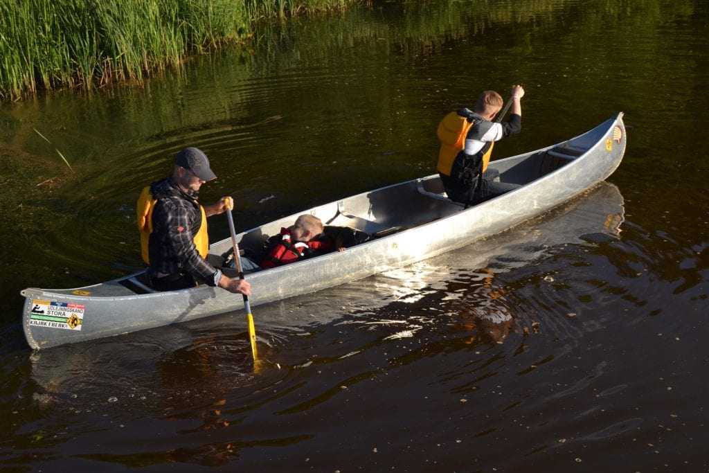 canoeing on Painkalac Creek