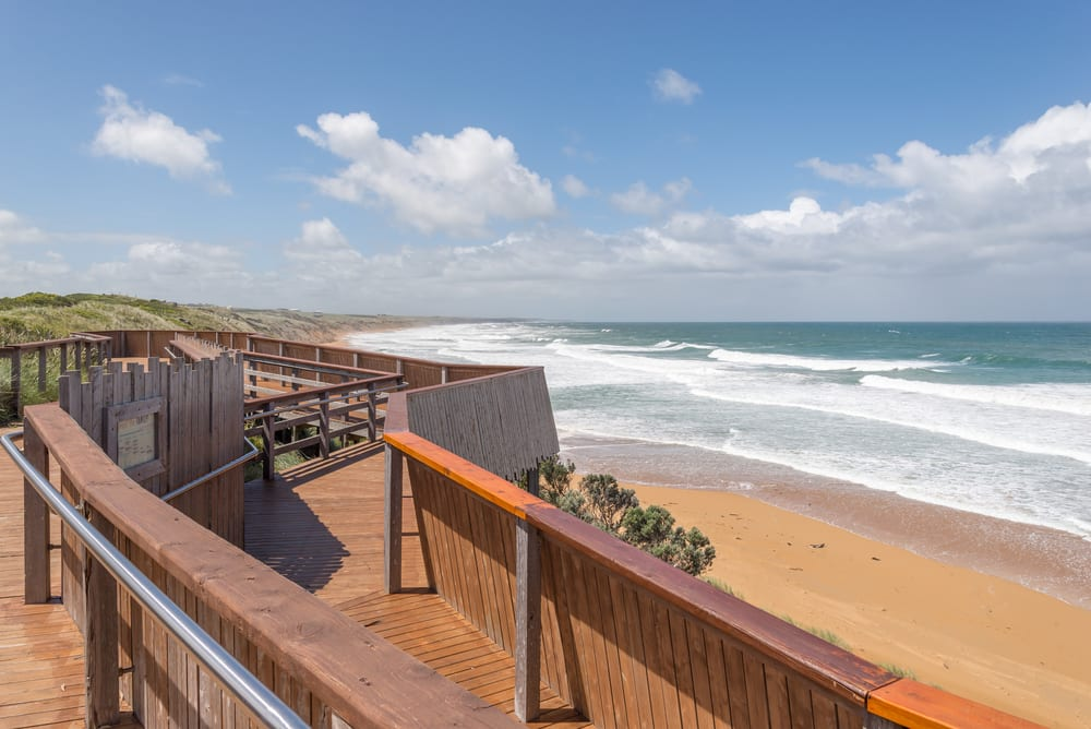 Whale viewing platform, at Logans beach, Warrnambool