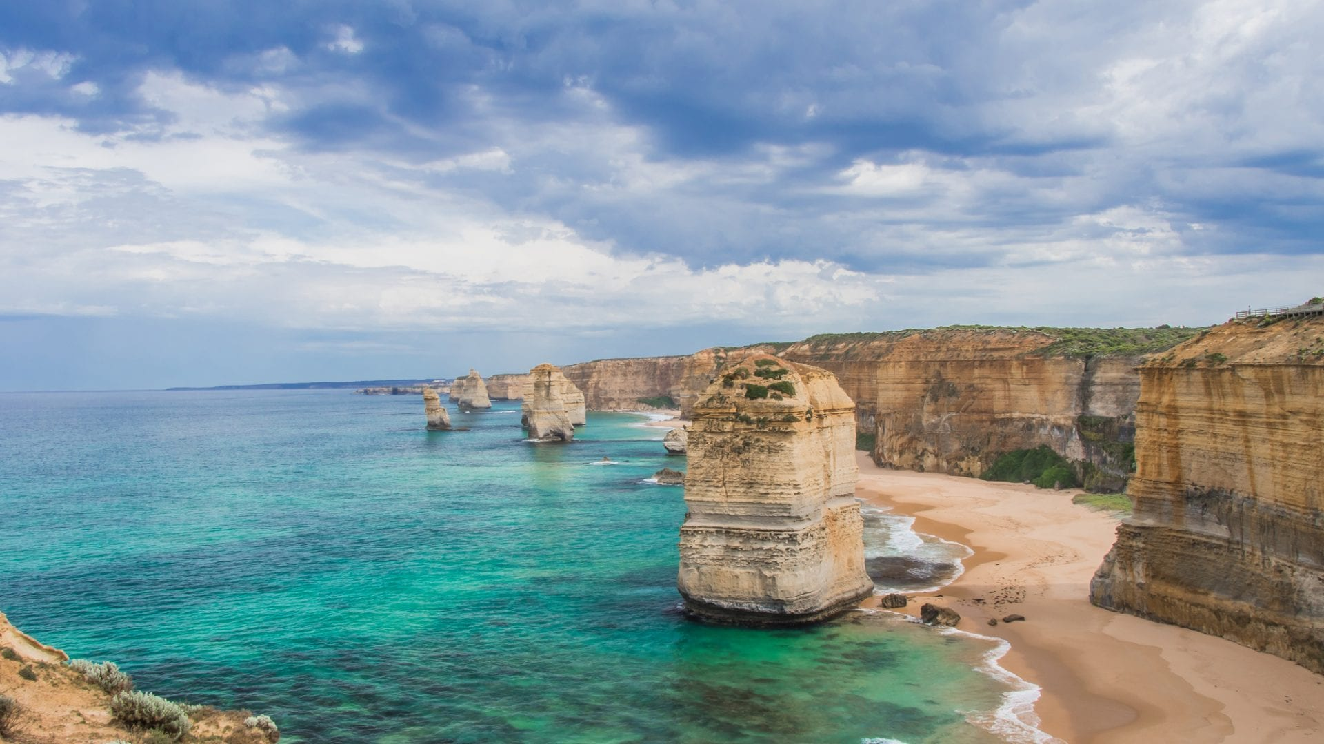 the most famous of Great Ocean Road attractions, the 12 Apostles in Port Campbell National Park