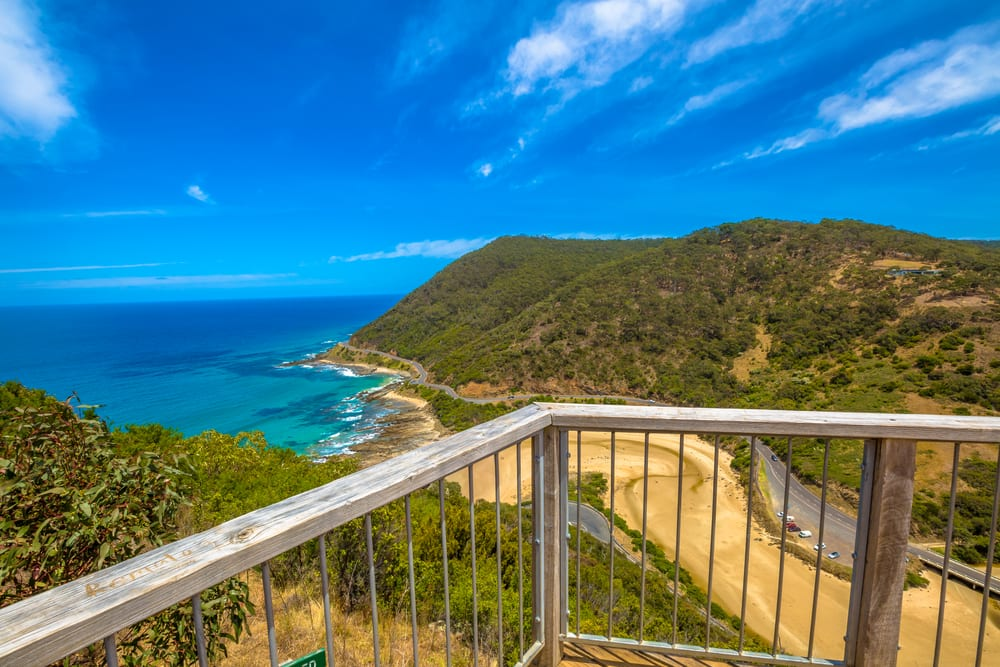 Great Ocean Road drives most beautiful lookout, Teddys Lookout