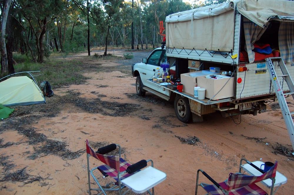 Camping in Australian bush