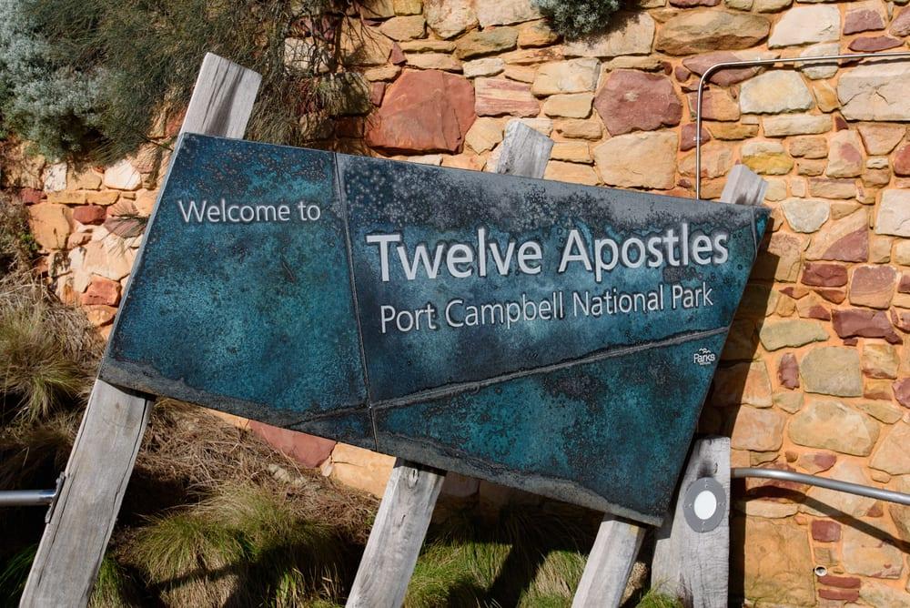 Port Campbell National Park sign