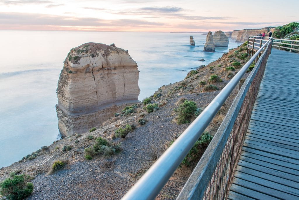 Stunning sunset view of Twelve Apostles, Great Ocean Road